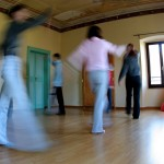 Casa Francisci's patients during a session of dancetherapy.