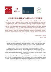 thumbnail of PROGRAMMA CORSO TERAPIA DELLO SPECCHIO Novembre 2017