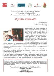 thumbnail of Programma seminario Il padre ritrovato